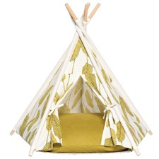 Olive Palm Pet Teepee Tent