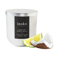 Bergamot, Lime & Coconut Large Candle Refill