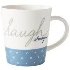 450ml Ellen DeGeneres Porcelain Laugh Always Mug (Set of 2)