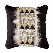 Jaeben Black Beaded Cushion