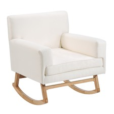 Positano Bone & Natural Rocking Chair