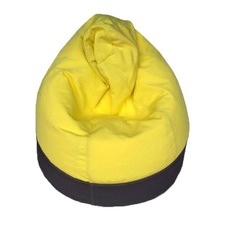 Yellow & Charcoal Cocoon Beanbag Cover