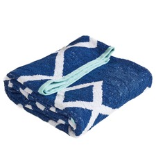 Navy Bamboo & Turkish Cotton Beach Towel