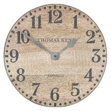 38cm Soaped Oak Wharf Wall Clock