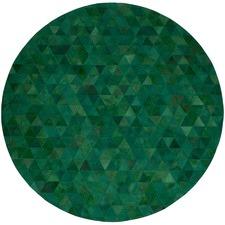 Emerald Trilogia Round Cow Hide Rug