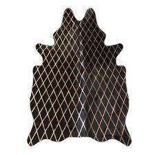Black & Copper Harlequin Cowhide