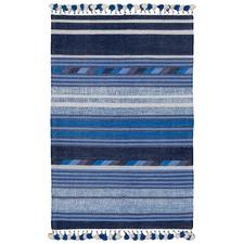 Blue & Silver Flip Rug