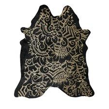 Black & Gold Isola Metallic Cowhide