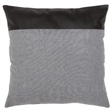 Leather & Linen Block Cushion