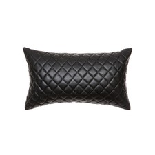 Quilted Pages Rectangular Leather Cushion