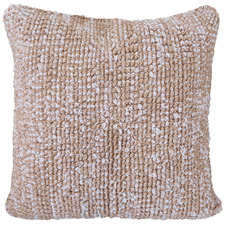 Cream Mars Jute-Blend Cushion Cover