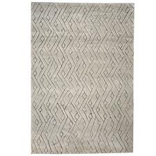 Grey Rebel Weave Wool Blend Rug