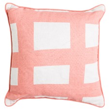Sea Tangle Peach Square Linen Cushion