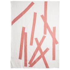 Whitaker Peach Linen Throw