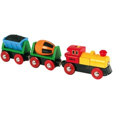 Battery Operated Action Train Toy Set