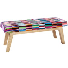 Colourful Loudon Cotton-Blend Bench