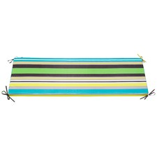 Green Multistripe Bench Outdoor Cushion