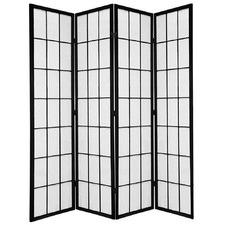 4 Panel Shoji Room Divider Screen