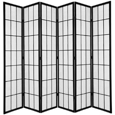 6 Panel Shoji Room Divider Screen