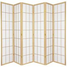 6 Panel Shoji Room Divider Screen