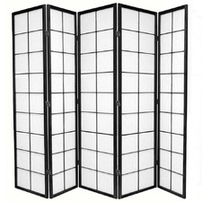 5 Panel Zen Room Divider Screen