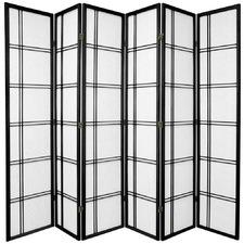 6 Panel Cross Room Divider Screen