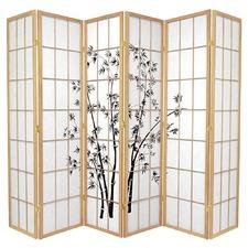 6 Panel Zen Garden Room Divider Screen