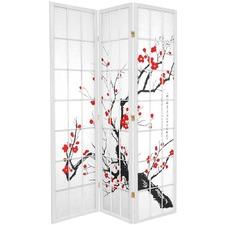 3 Panel Cherry Blossom Room Divider Screen