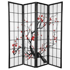 4 Panel Cherry Blossom Room Divider Screen