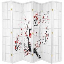 6 Panel Cherry Blossom Room Divider Screen