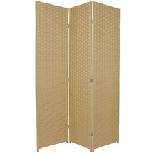 3 Panel Woven Room Divider Screen