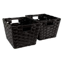 Kenu Woven Rattan Storage Baskets (Set of 2)