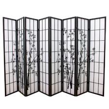 Zen Garden 8 Panel Rice Paper Room Divider