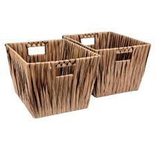 Hudson Woven Rattan Storage Baskets (Set of 2)