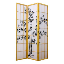 Zen Garden 3 Panel Rice Paper Room Divider