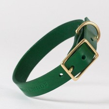 Classic Green Leather Collar