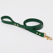 Classic Green Leather Lead