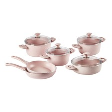 6 Piece Pink Cookware Set