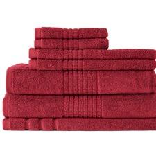 7 Piece Bella Russo 600 GSM Mosaic Cotton Towel Set