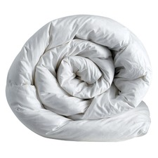 White Cotton Sateen Cover & Microfiber Fill Quilt