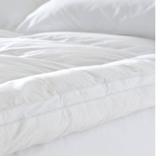 White 600 GSM Microfiber Peachy Cover Mattress Topper