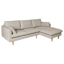 Sand Silas 2 Seater Sofa with Right Chaise