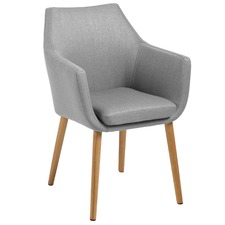 Light Grey Chloe Carver Dining Chair