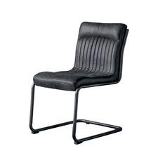 Ebony Agra Leather Chair