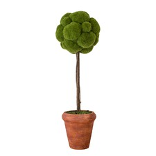 Faux Potted Moss Cloud Tree