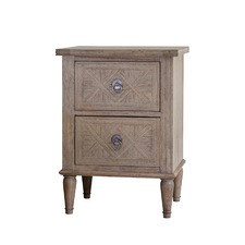 Sheffield 2 Drawer Ash Wood Bedside Table