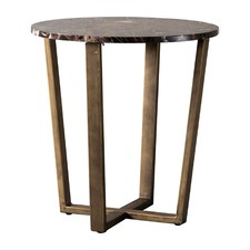Audley Round Marble Side Table