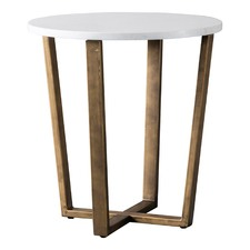 Linley Round Marble Side Table