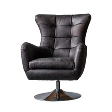 Mumbai Leather Swivel Chair