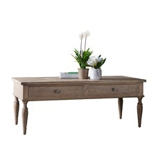 Sheffield 2 Drawer Ash Wood Coffee Table
